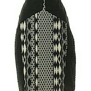 Anthropologie Floreat black & white skirt size 4